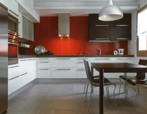 image de cuisine design rouge